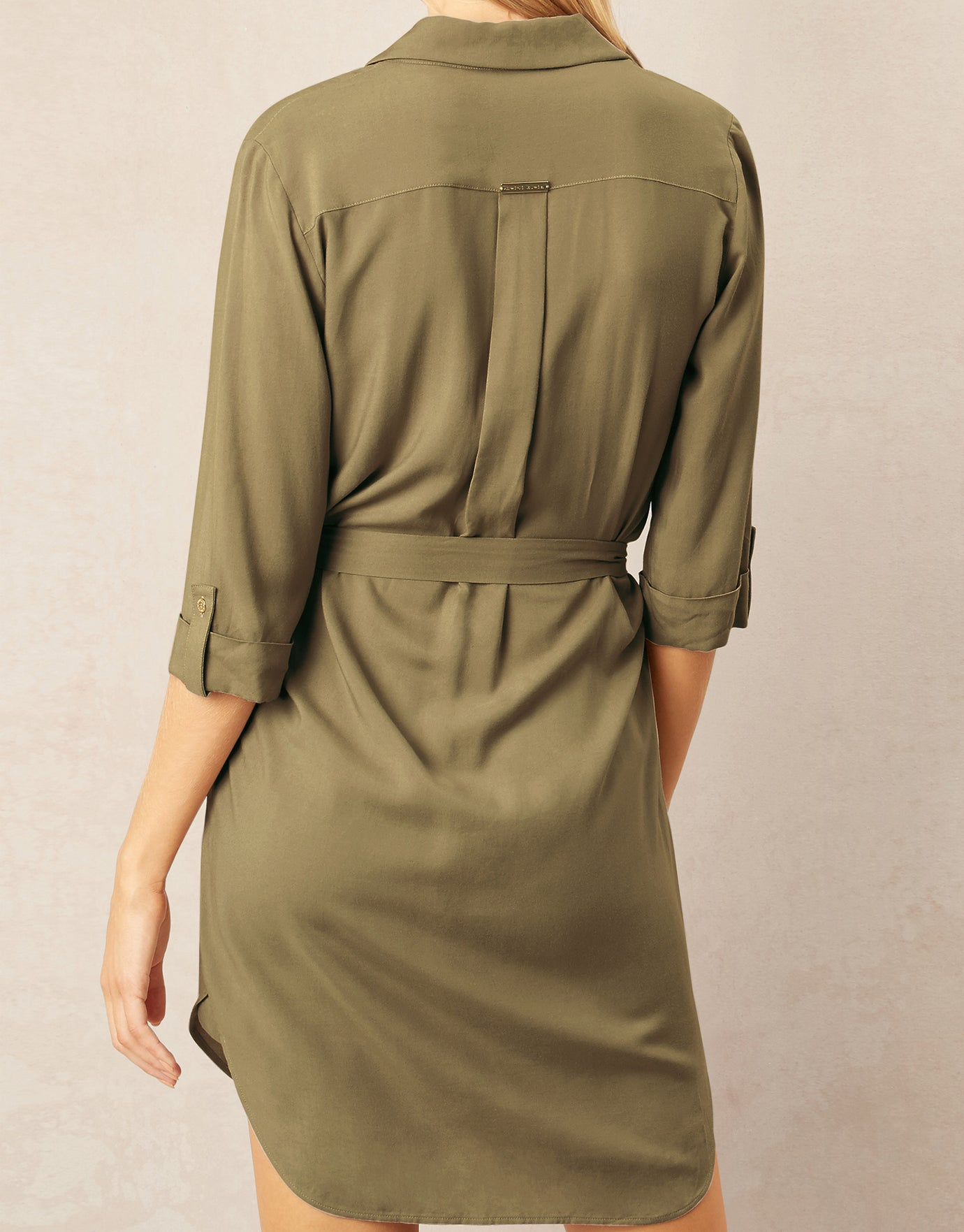 Heidi Klein Venice Relaxed Shirt Dress - Khaki
