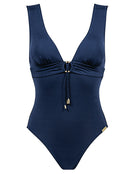 Summer Solids C Cup Plunge Swimsuit - Deep Ink