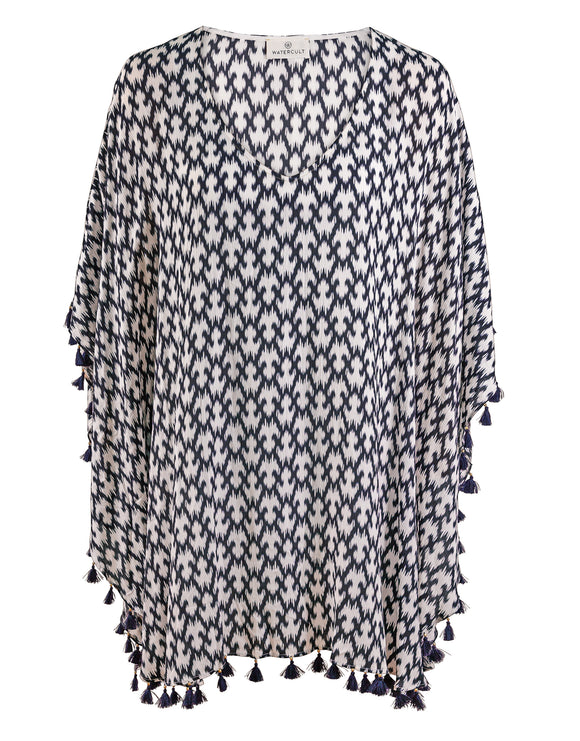 Watercult Ikat Edit Kaftan - Black
