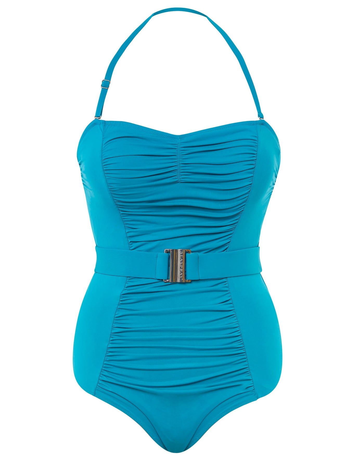 Seaspray Amelia Belted Bandeau Swimsuit - Jade