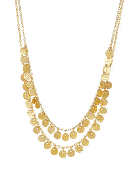 Ashiana Two Row Boho Necklace - Gold