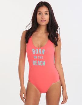 Banana Moon Teens Shoreline Belair One Piece - Coral