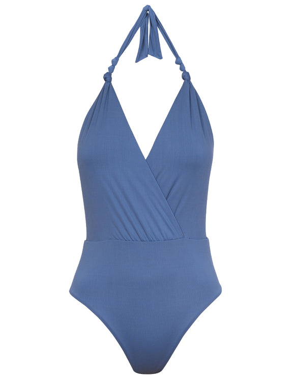 ViX Blue Grey Diane Knot Swimsuit - Grey