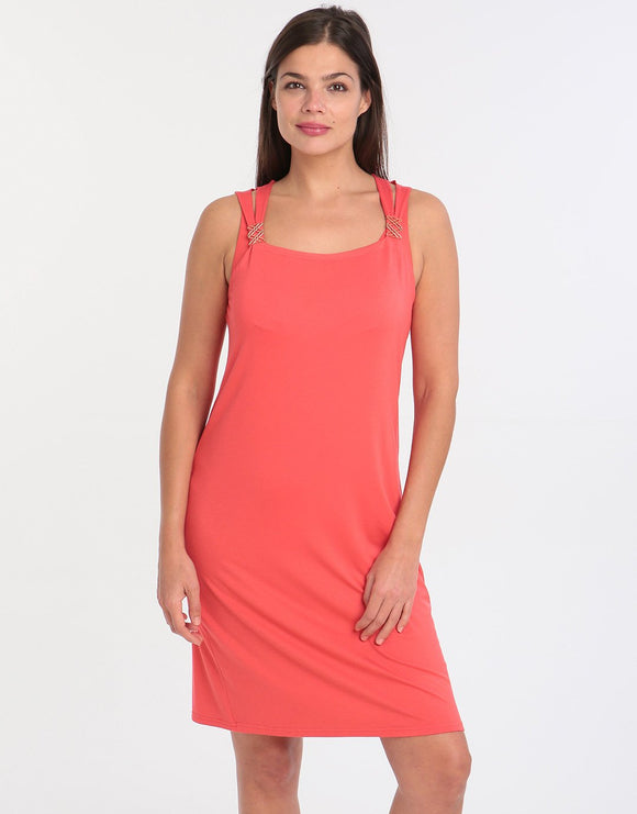 Charmor Double Strap Dress - Red