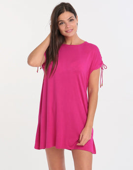 David Beachwear T-Shirt Dress - Fuchsia