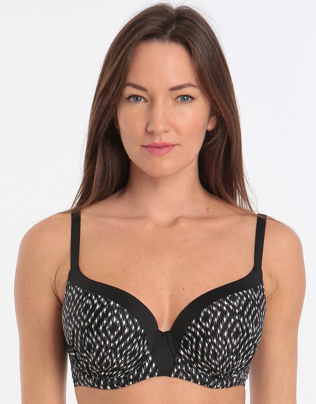 d3d2bdd7e6 Fantasie Byron Bay UW Moulded Bikini Top - Black Cream