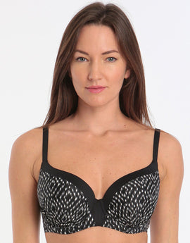 Fantasie Byron Bay UW Moulded Bikini Top - Black Cream