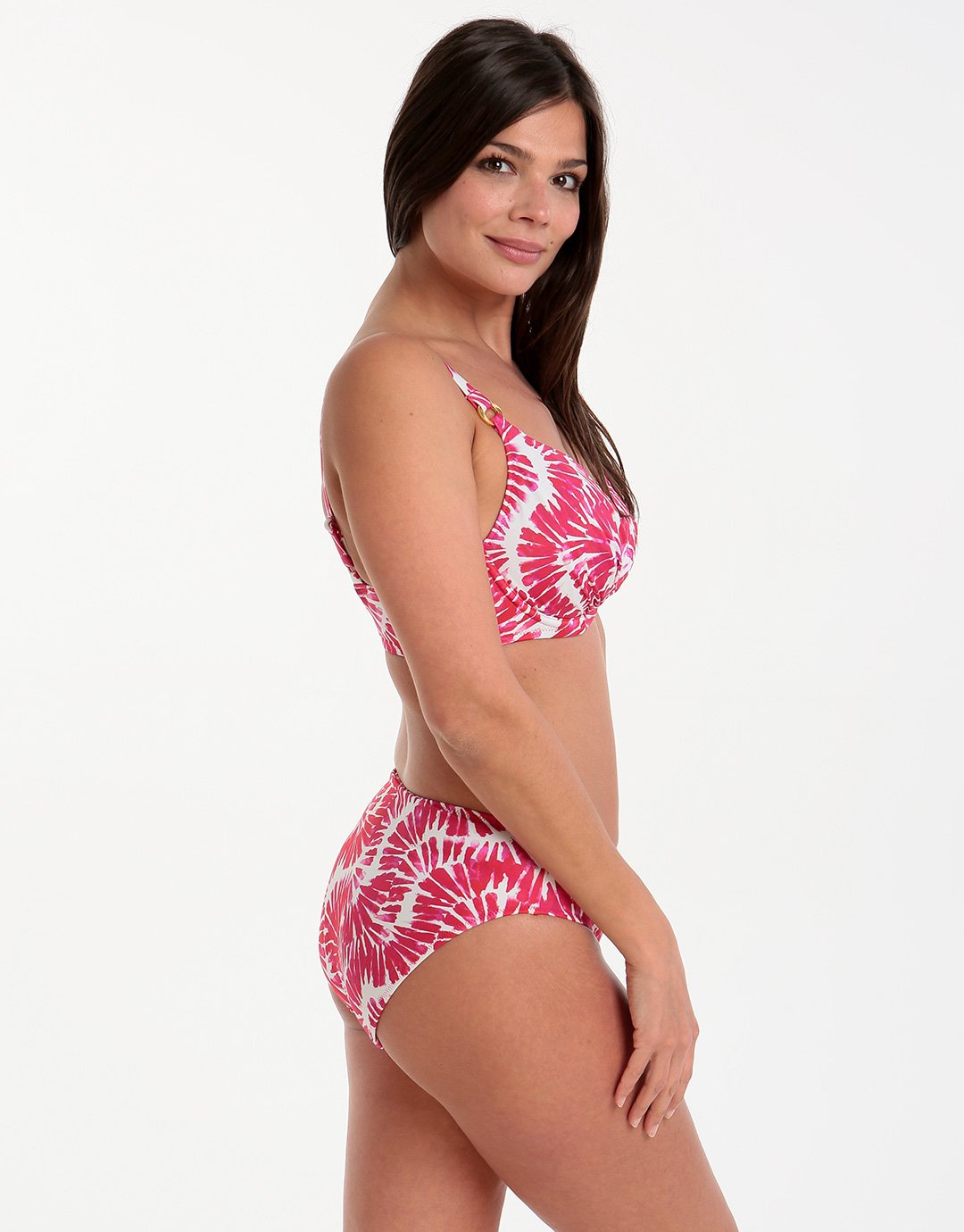 Fantasie Lanai UW Gathered Balcony Top - Rose Red