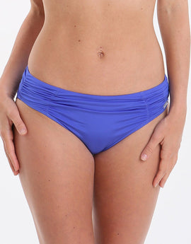 Fantasie Los Cabos Mid Rise Gathered Brief - Cobalt