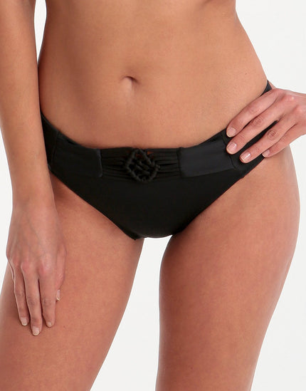 Freya Macrame Bikini Brief - Black