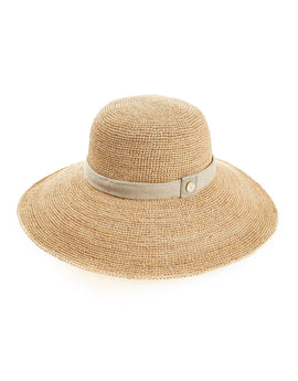 Heidi Klein Carlisle Bay Raffia Wide Brim Hat - Natural