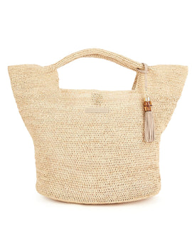 Heidi Klein Grace Bay Mini Raffia Bucket Bag - Natural