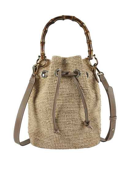 Heidi Klein Savannah Bay Bamboo Mini Duffle - Natural