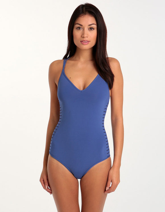 Jets Parallels Tank Style One Piece - Ibiza