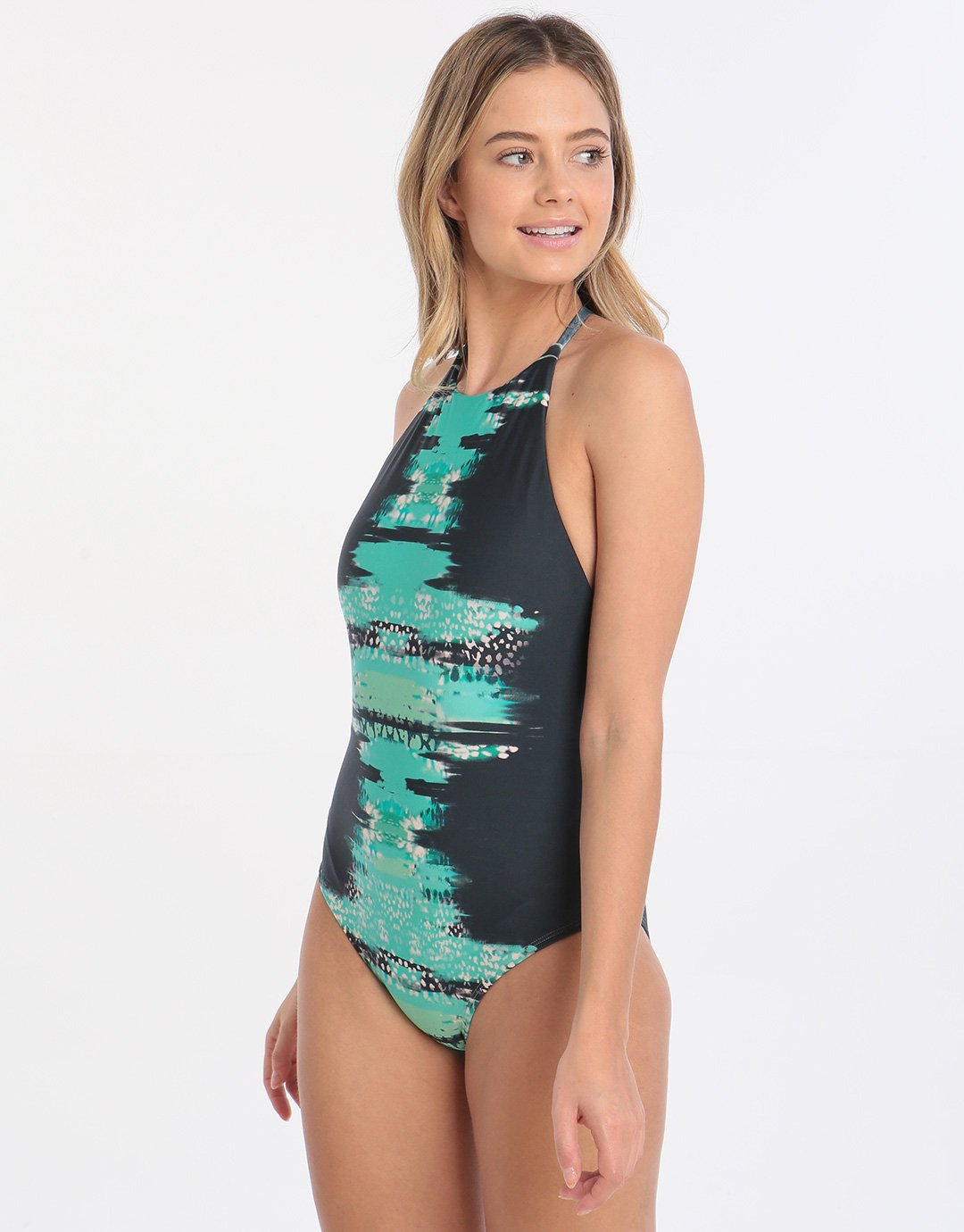 Lenny Niemeyer Sea Halter Straps Maillot - Print