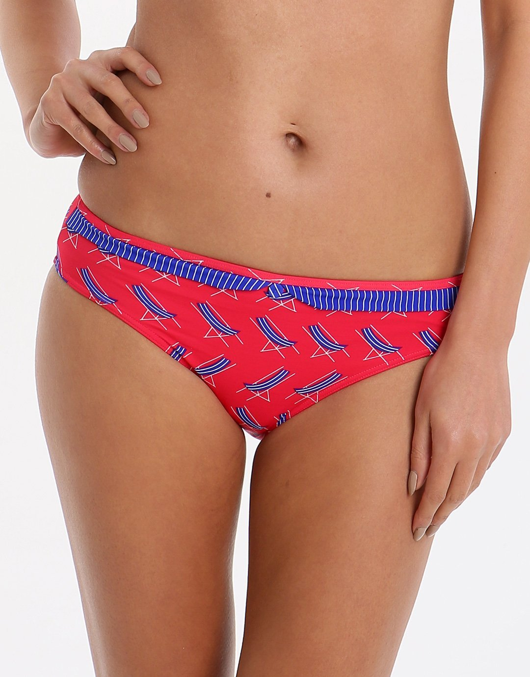 Lepel Deckchair Low Rise Pant - Red