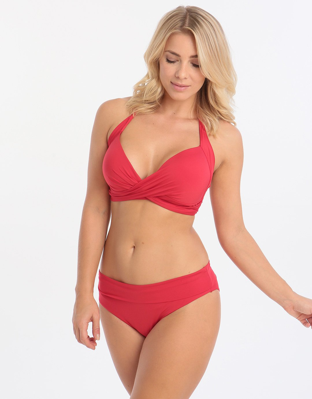 Lepel Lagoon Halter Tri Top - Red