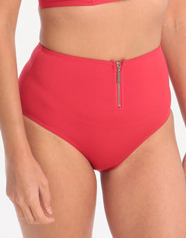 Lepel London Beach Chic High Waisted Pant - Red
