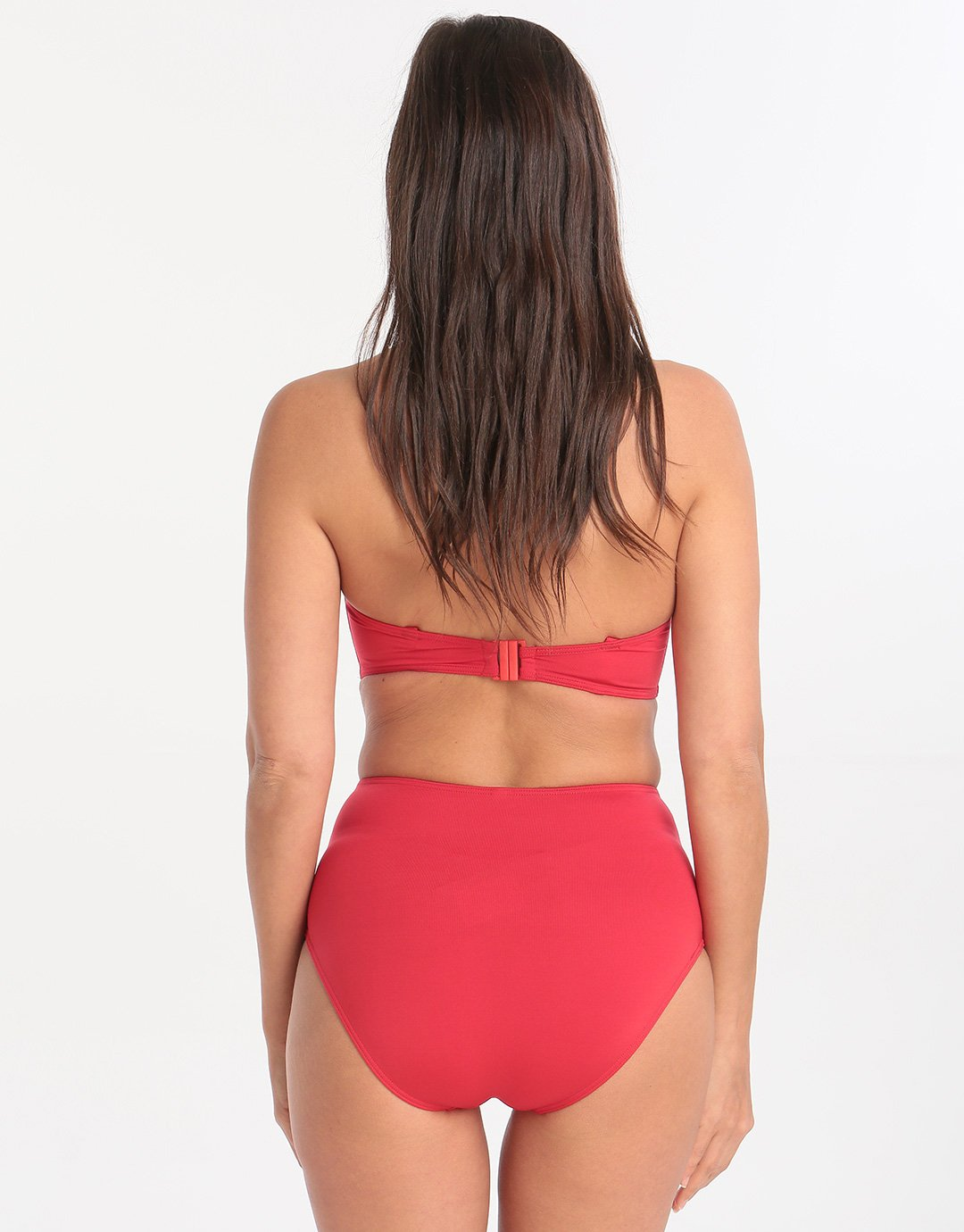 Lepel London Beach Chic Moulded Longline Bikini Top - Red