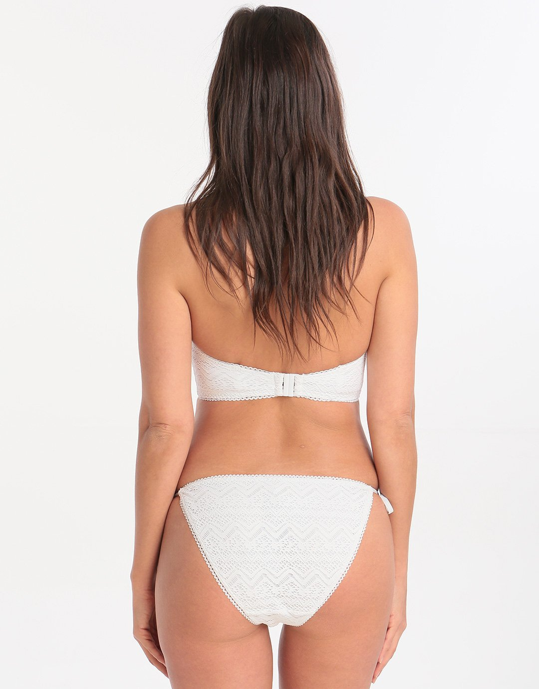 Lepel London White Sands Moulded Longline Bikini Top - Cream