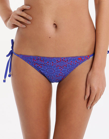 Lepel Summer Days Tie Side Pant - Blue Red