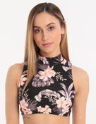 Seafolly Jungle Floral Cross Back Top - Black