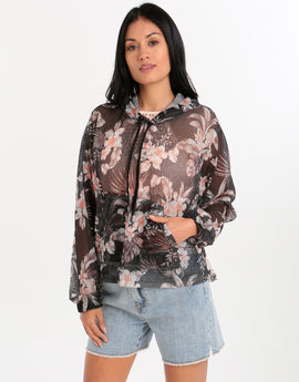 Seafolly Jungle Floral Jacket - Black