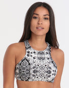 Seafolly Mandala Reversible Crop Top - Black