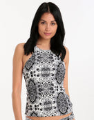 Seafolly Mandala Reversible Top - Black