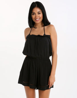 Seafolly Pull On Playsuit - Black