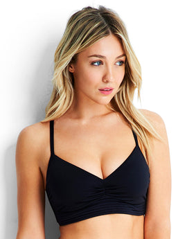 Seafolly Quilted DD Cup Bralette - Black