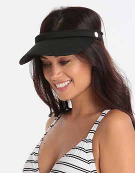 Seafolly Quilted Visor - Black