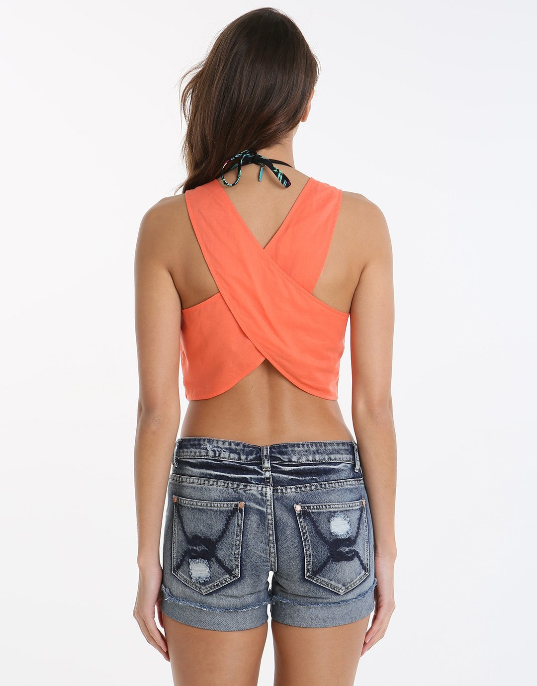 Seafolly Rails Top - Nectarine