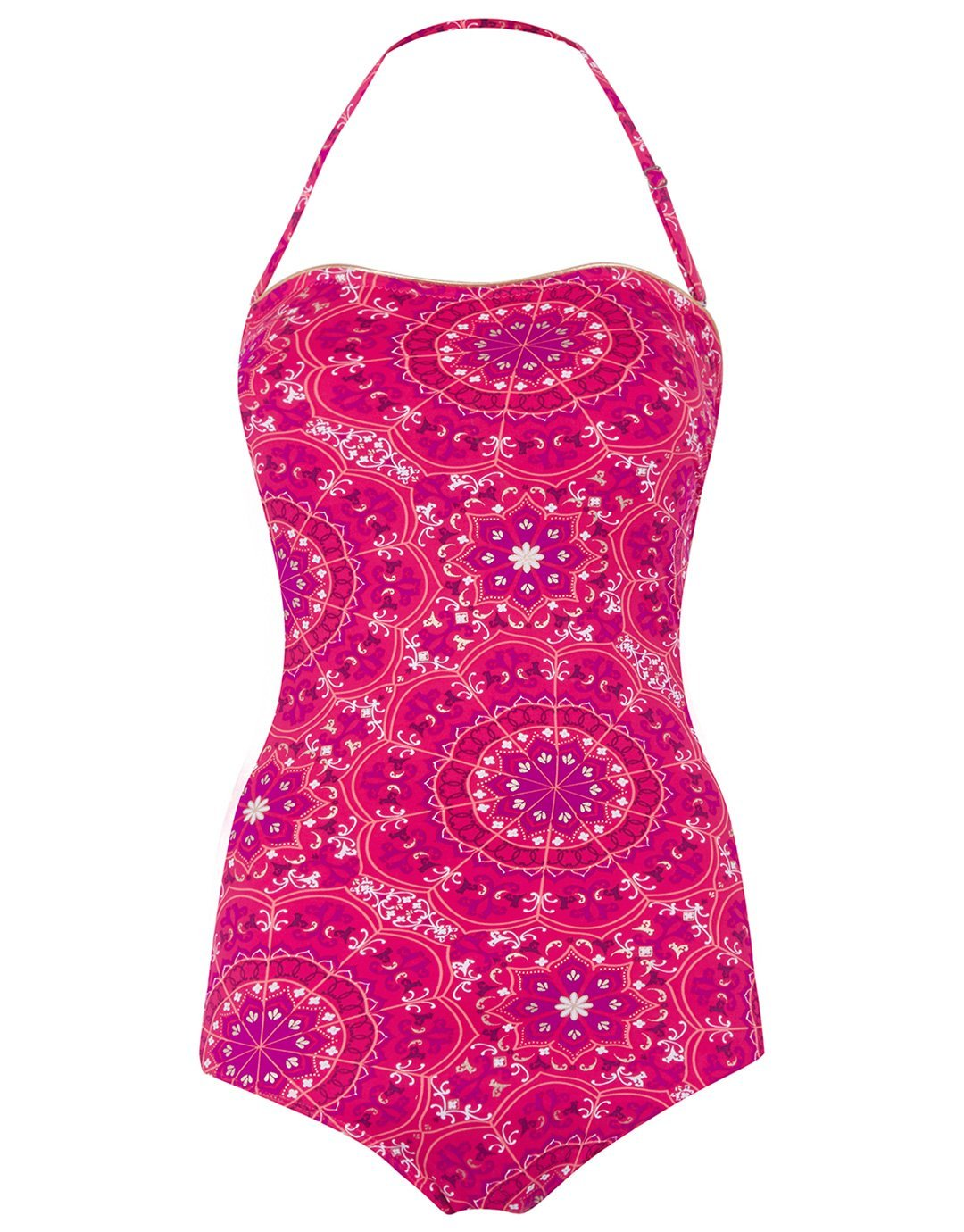 Seaspray Jaipur Classic Bandeau Swimsuit - Pink