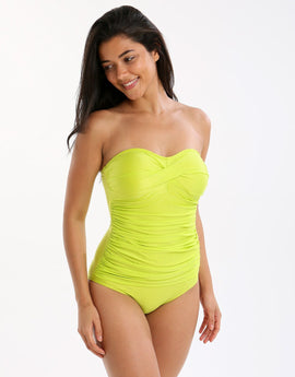 Seaspray Just Colour Classic Bandeau Swimsuit - Chartreuse