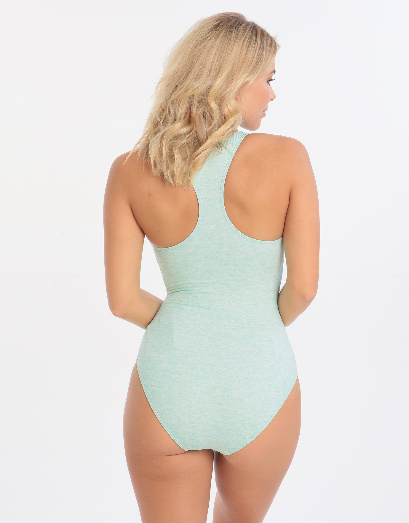 Sunseeker Fancy Solids Lace Up One Piece - Cockatoo