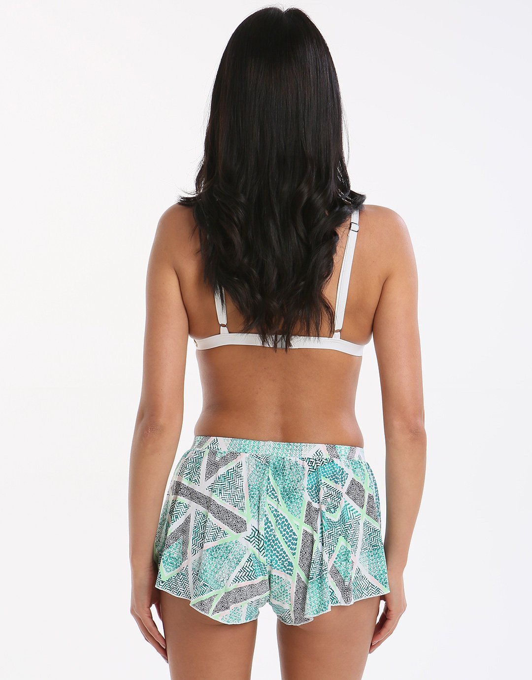 Sunseeker Geometric Tribe Shorts - Pistachio