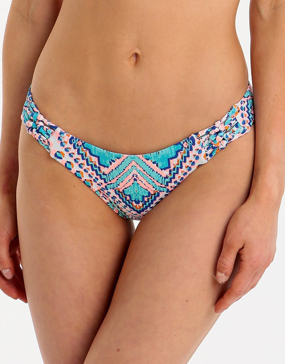 Sunseeker Mexican Oasis Cheeky Hipster Pant - Tuquoise