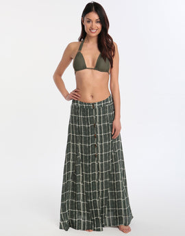 ViX Tortuga Ivory Long Skirt - Green