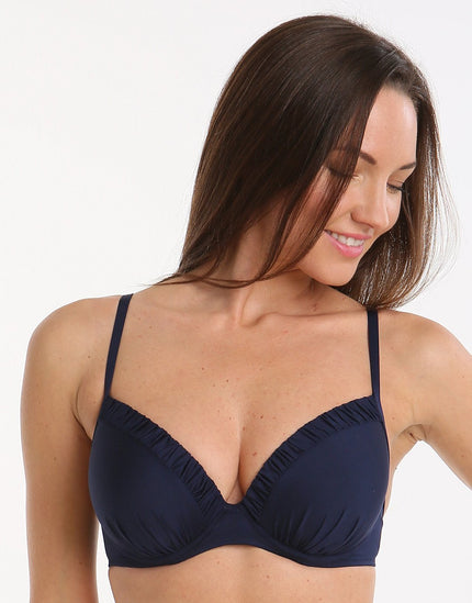 Watercult Summer Solids D Cup Plunge Top - Nocturne