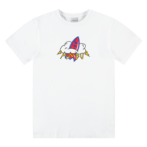 ANBU GANG WHITE ROCKET LOGO TEE
