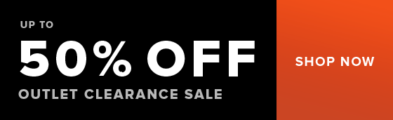 Up to 50% off outlet clearance