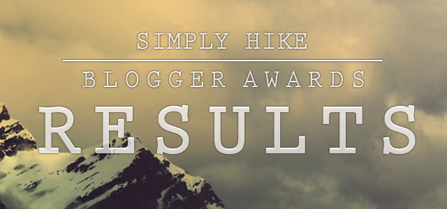 Simply Hike Blogger Awards 2015 Results