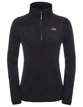 The North Face Womens 100 Glacier Quarter Zip Fleece - TNF Black