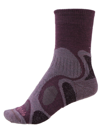 Bridgedale Womens Hike Lightweight T2 Merino Endurance Sock - Plum