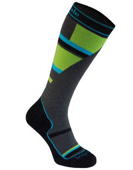 Bridgedale Kids Ski Mountain Merino Endurance Sock - Grey Green