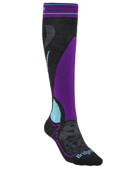 Bridgedale Womens Ski Midweight Merino Endurance Sock - Graphite Purple
