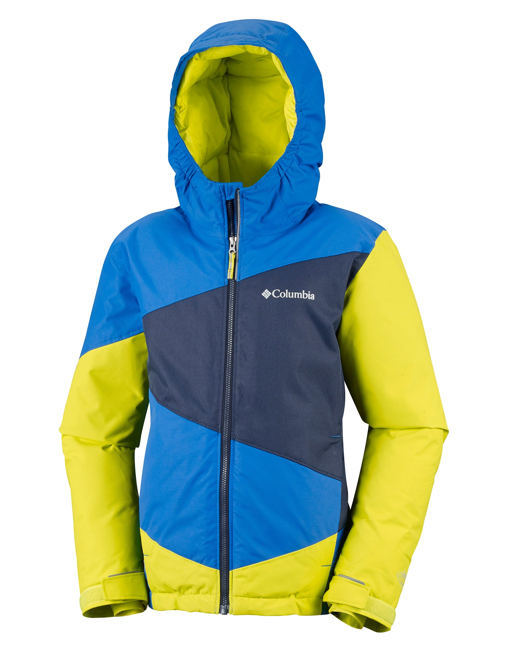 9ee0a6f9d Columbia Boys Wildstar Jacket - Super Blue/Zour Green   Simply Hike UK