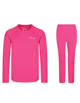 Dare2B Kids Equate Base Layer Set - Cyber Pink