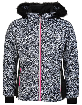 Dare2B Girls Muse Jacket - Black Fusion Print